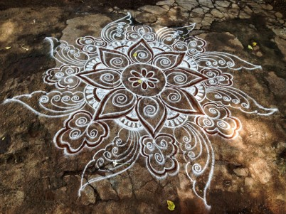 Chitra always makes the most elaborate, free-flowing kolams.