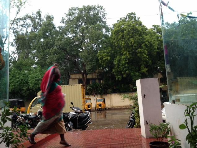 Shopping - rain at Nilgiris
