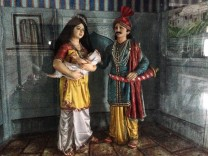 Ayyappa as a baby with his parents.