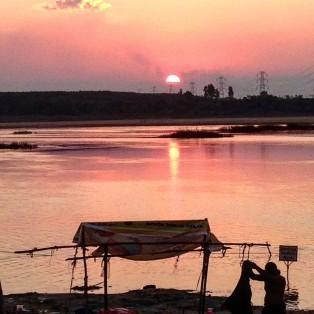 Sunset on the Godavari.