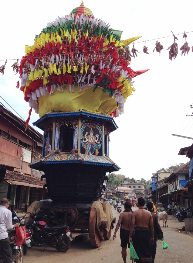 Temple car on Car Street, Gokarna