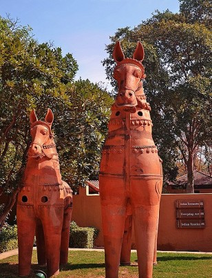 Terracotta horses, courtesy of Wikimedia Commons https://commons.wikimedia.org/wiki/File:Terracotta_horses,_Sanskriti_Museum.JPG
