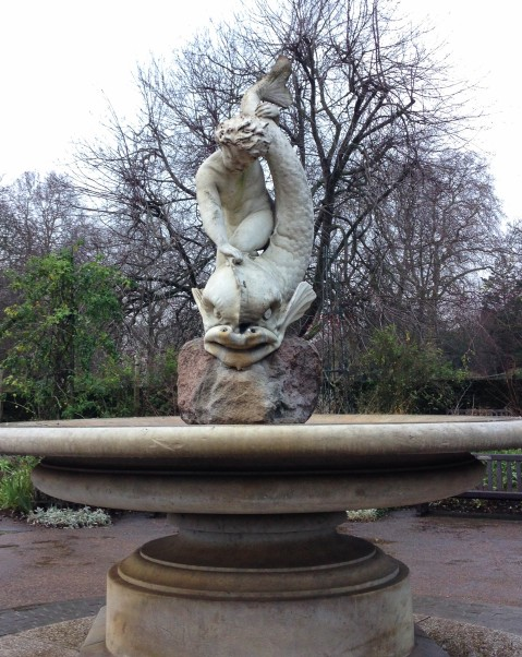 One of my favourite statues in London: the boy and the dolphin in Hyde Park. This piece makes an appearance in Mary Poppins (the first book).