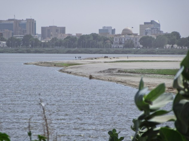 Looking to downtown Khartoum from Tutti Island.