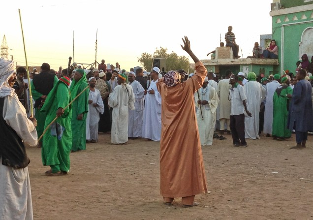 Ecstasy at the Sufi worship at Hamid El Nil, Omdurman