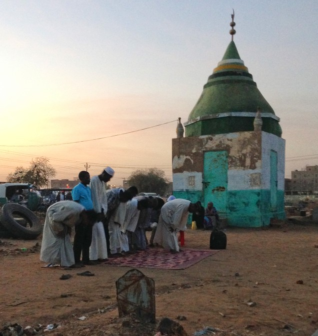Evening prayer at Hamid El Nil, Omdurman