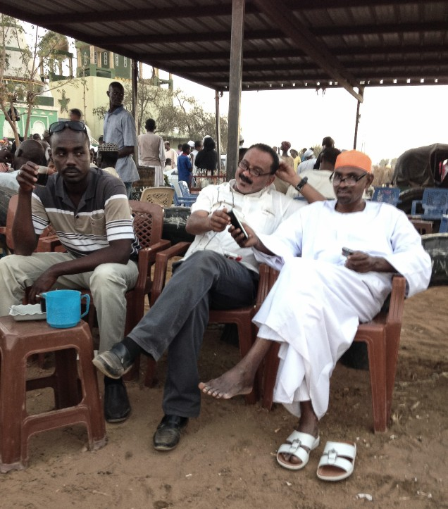 Tea after Sufi worship at Hamid El Nil, Omdurman