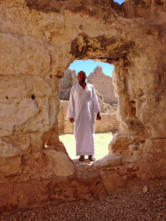 Guide in the oracle temple in Siwa Oasis