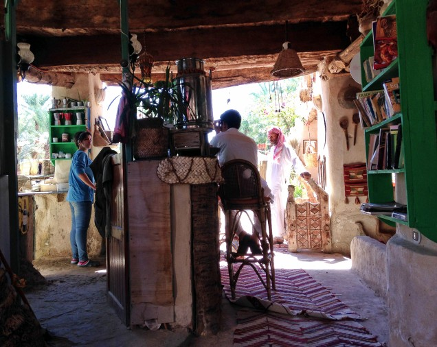 Cafe next to Cleopatra's Bath, Siwa Oasis