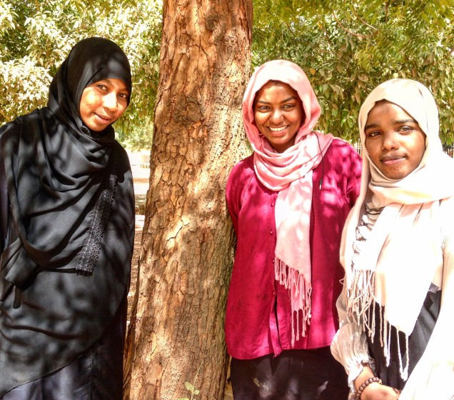 My fifth-year friends: Suhaila, Huda & Ebtihal