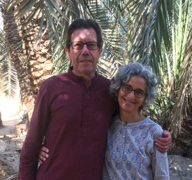 Alan and Aliza in Siwa Oasis, Egypt, April 2018