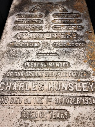Charles Hunsley died on 1 October 1934, aged 69.