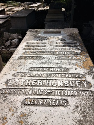 Esther Hunsley, wife of Charles Hunsley, died on 2 October 1934, aged 67.