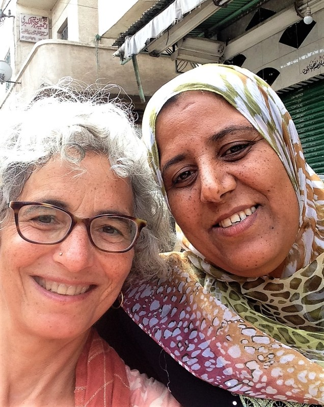 A selfie with Fatima, who guided us from the catacombs of Alexandria to where she thought we should walk.
