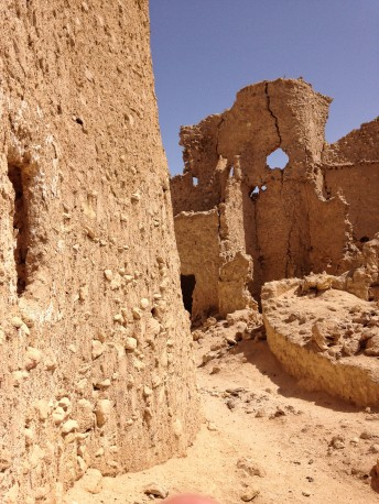 Kersheef wall, narrow streets in Shali, Siwa Oasis