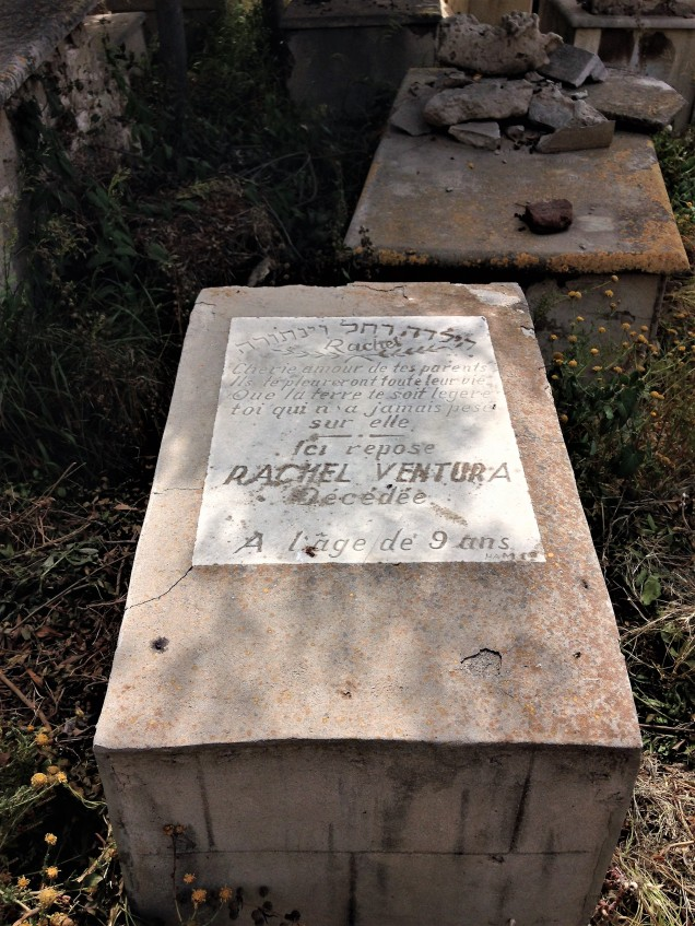 The small tomb of Rachel Ventura in the Jewish cemetery of Alexandria. She was nine years old when she died.