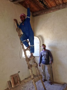 These men are restoring the house.