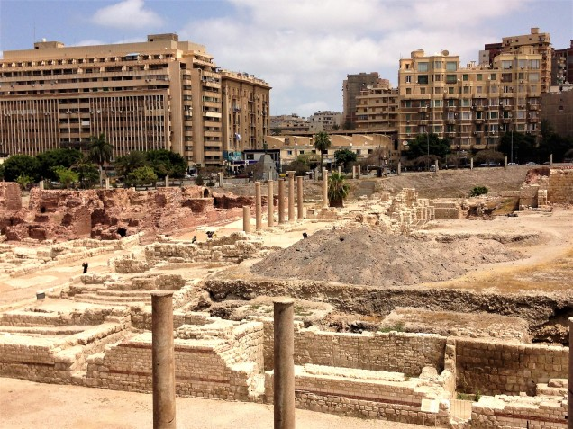Northern portion of the archaeological dig at Kom el Dikka, Alexandria