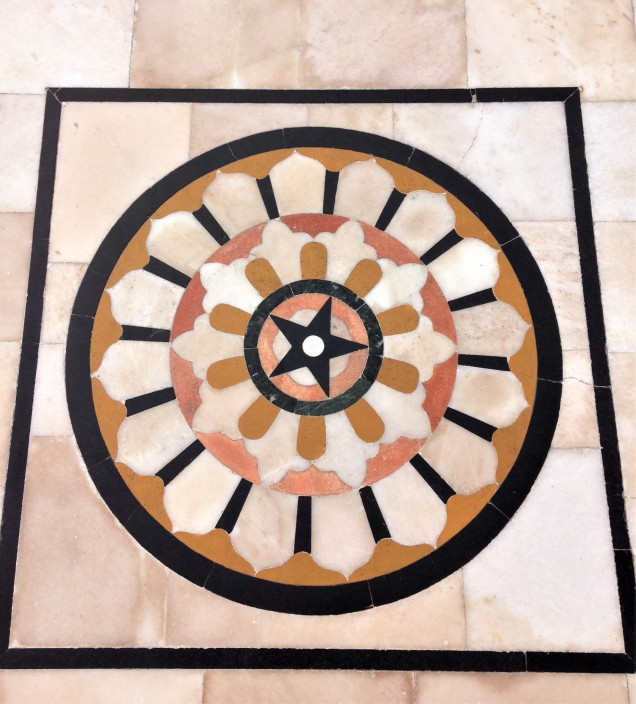 Floor mosaic at Gurudwara Bangla Sahib, New Delhi