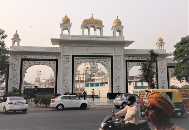 Entrance to Gurudwara Bangla Sahib, New Delhi