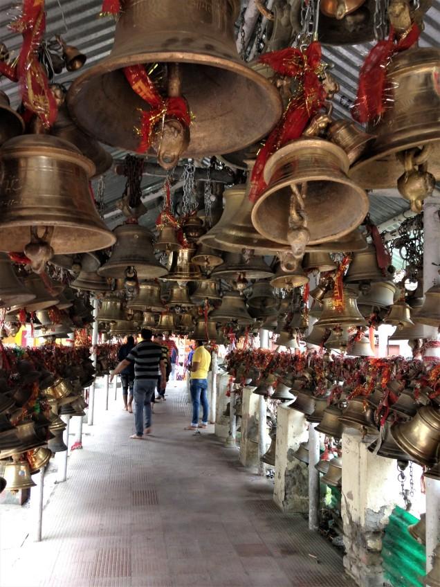 Corridor of bells at Chitai Golu Devta Temple, Almora, Uttarakhand
