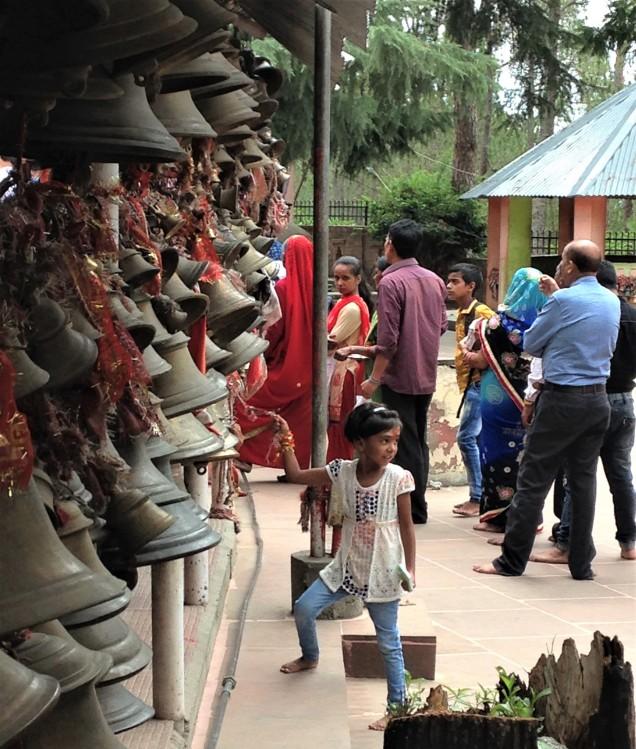 Little girl at Chitai Golu Devta Temple, Almora, Uttarakhand