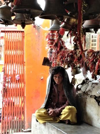 The old lady at Chitai Temple, Almora, Uttarakhand