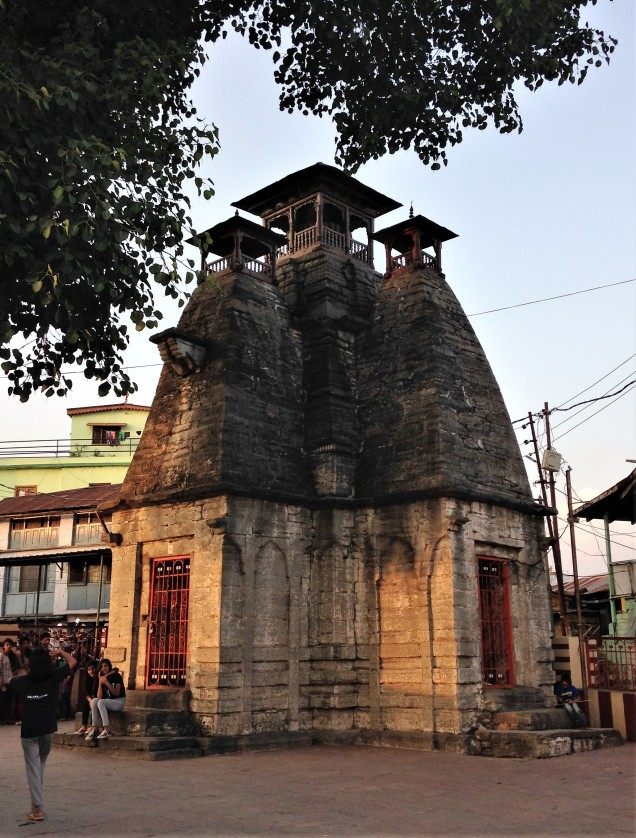 Thousand-year-old tower at Nanda Devi Mandir, Almora, Uttarakhand