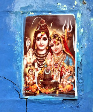 Modern colored tile, Shiva and Parvati
