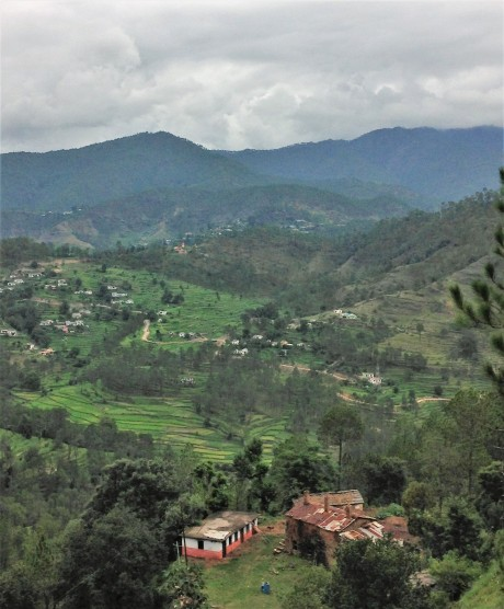 The valley below Papershali, Almora, Uttarakhand