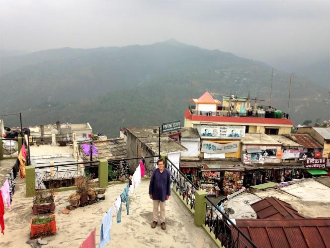 Alan on the roof of the Bansal Hotel, Almora, Uttarakhand