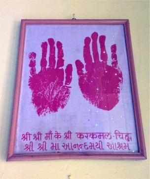 Ma's handprints