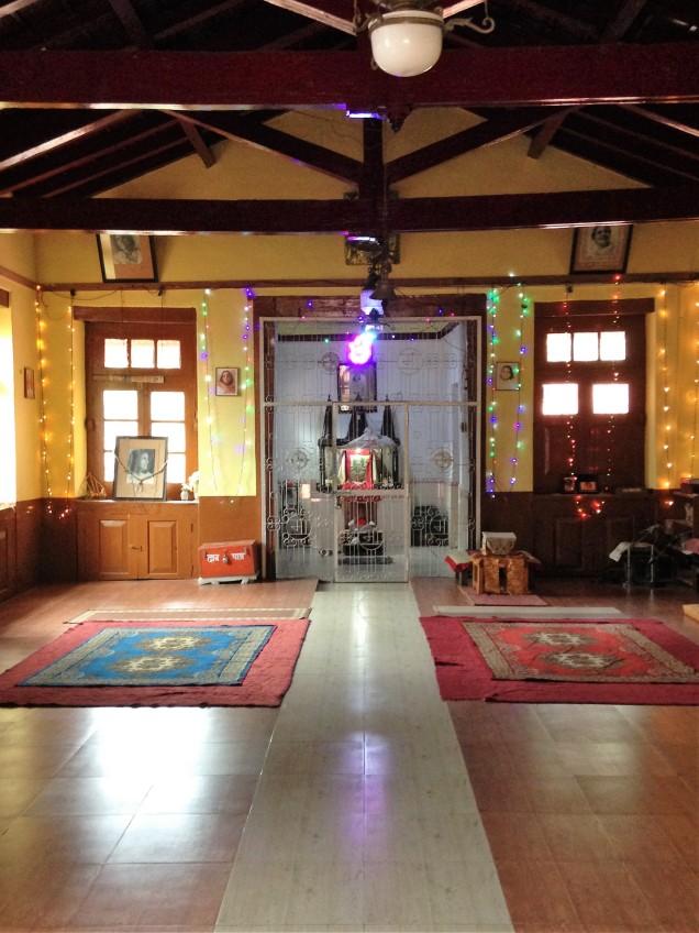 Meditation hall at Ma Anandamayi ashram, Patal Devi, Almora, Uttarakhand