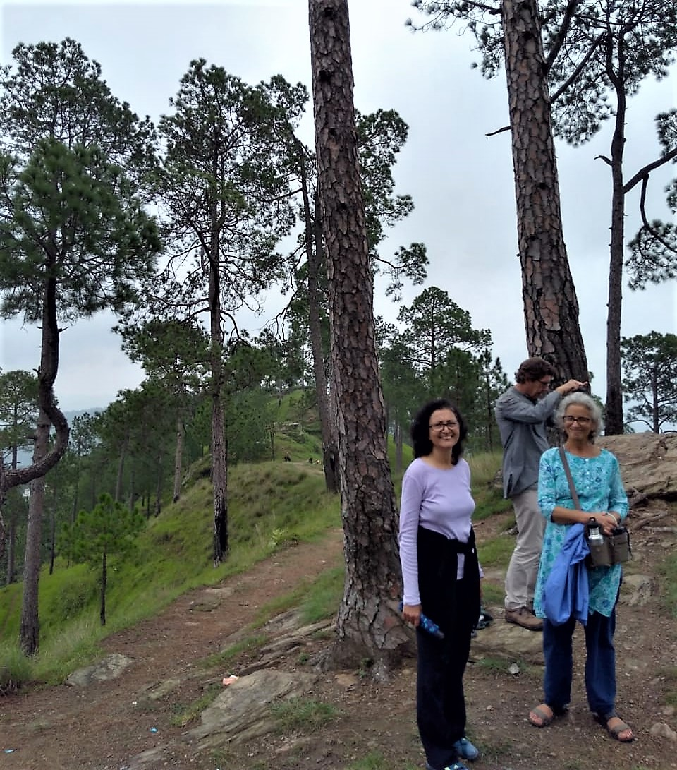 Nayana, Alan and Aliza near Kasar Devi Temple, Almora, Uttarakhand. Photo by Prashant Gupta