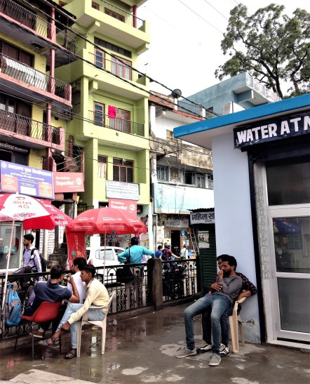 Water ATM on Mall Road near bus stand in Almora, Uttarakhand