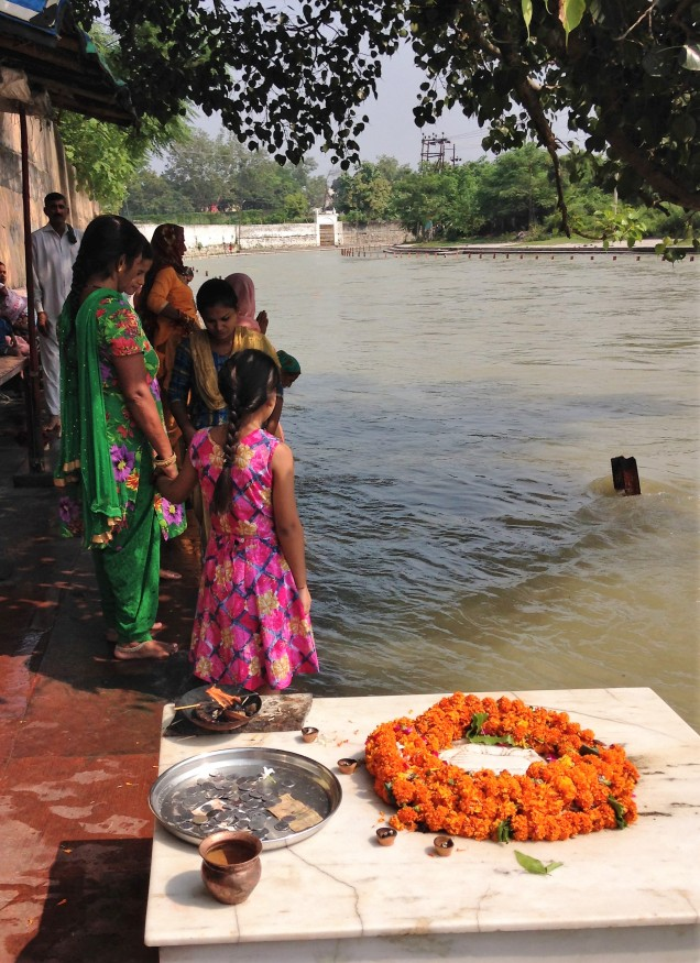 By the Ganga at Daksh Mandir, Kankhal, Haridwar, Uttarakhand