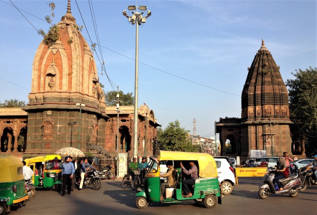 Photo of the two Ahilyabai chhatris in Chhatri Bagh, Indore, Madhya Pradesh