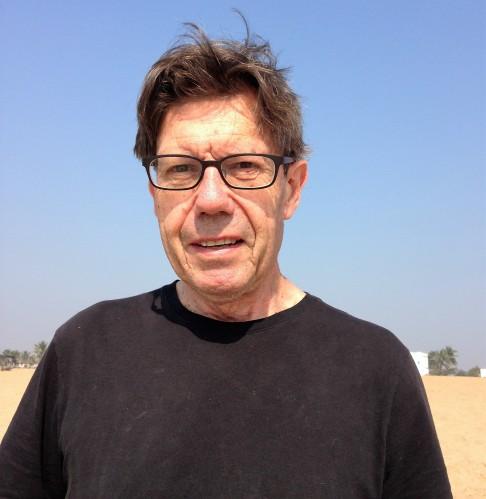 Alan with his new haircut, on the beach in Puri, Odisha