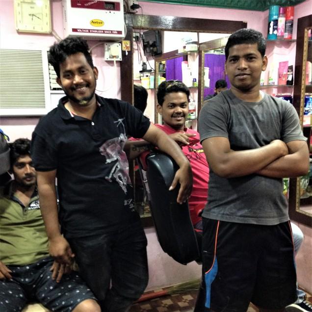 The barber's buddies, Puri, Odisha