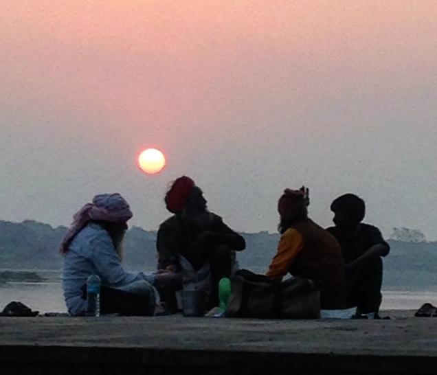 Sunset on the Narmada, Maheshwar