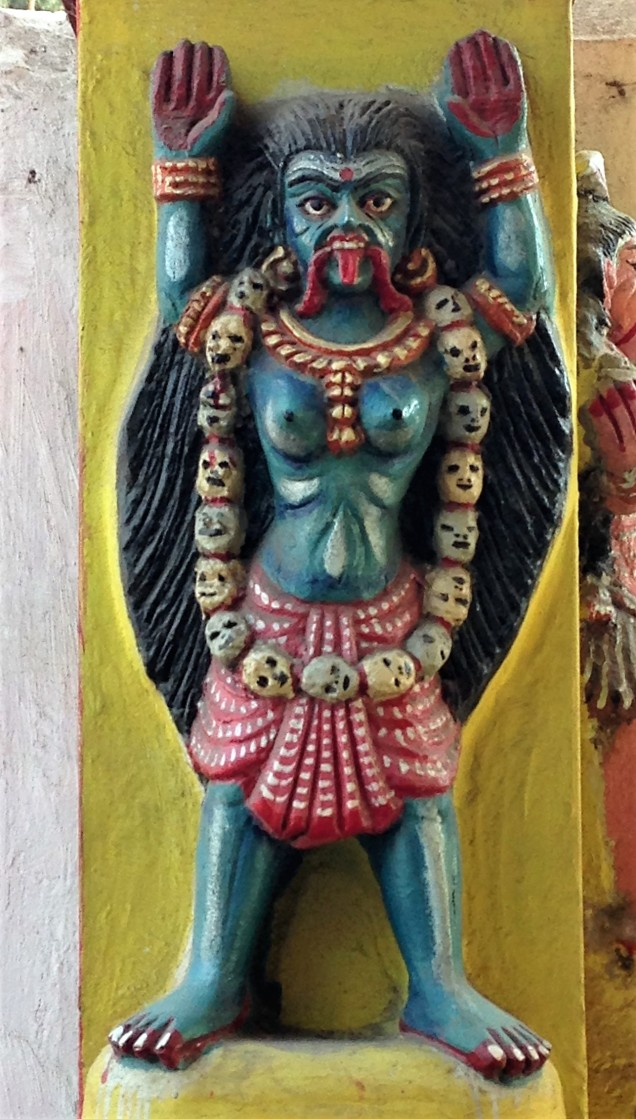 Kali in temple at burning ground, Puri, Odisha